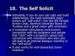 10 the self solicit