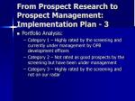 from prospect research to prospect management implementation plan 3