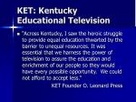 ket kentucky educational television
