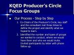 kqed producer s circle focus groups1