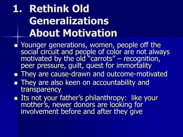 Rethink Old Generalizations