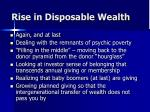 rise in disposable wealth