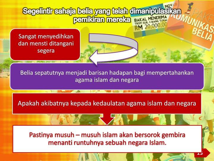 Apakah akibatnya kepada kedaulatan agama islam dan negara