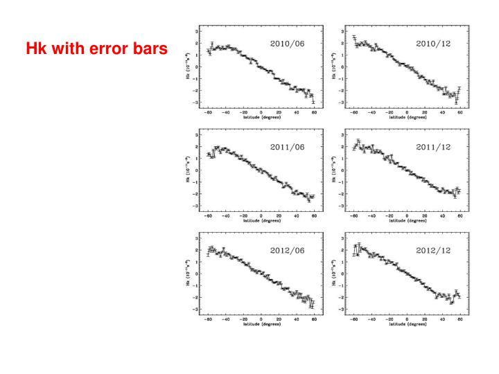 Hk with error bars