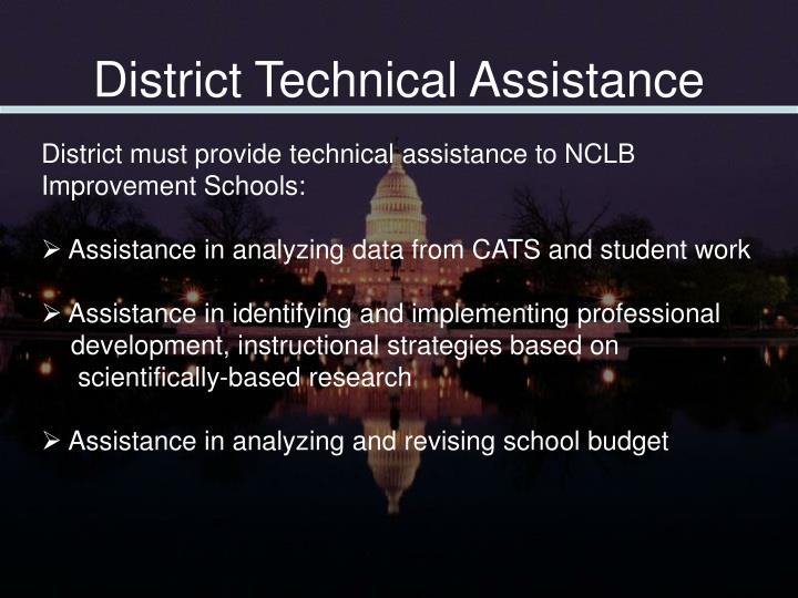 District Technical Assistance
