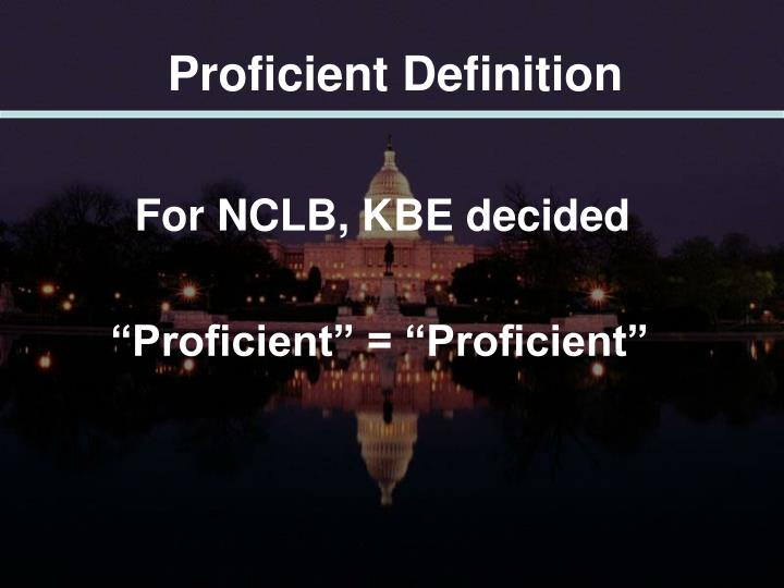 Proficient Definition
