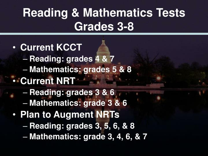 Reading & Mathematics Tests