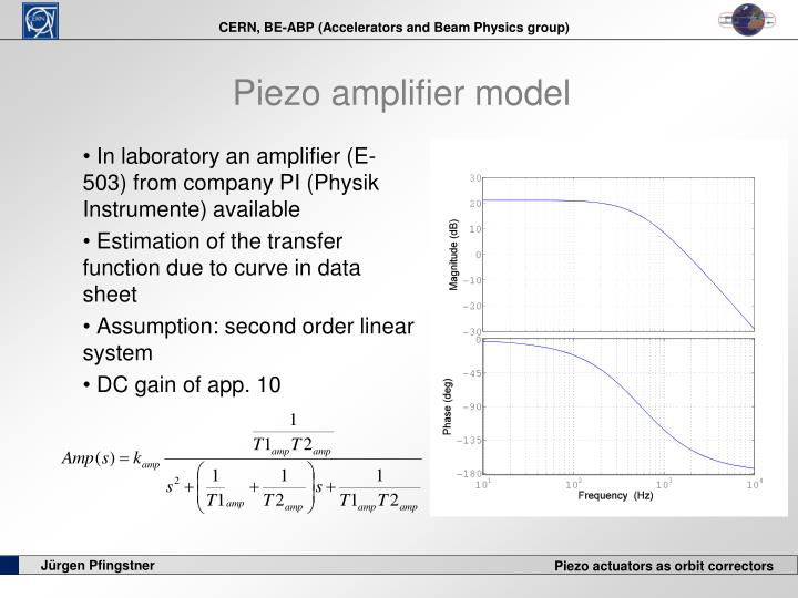 Piezo amplifier model