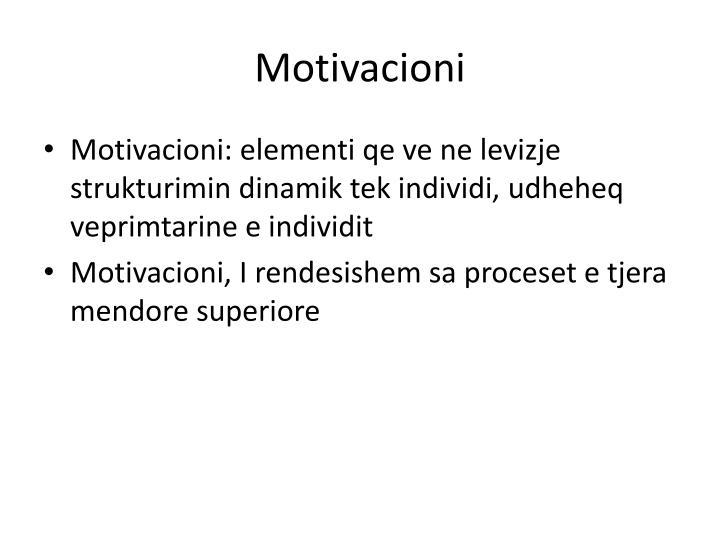 Motivacioni