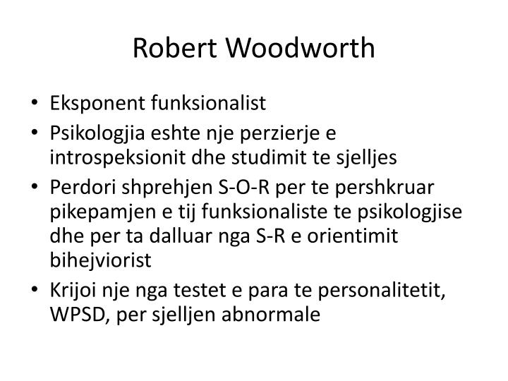 Robert Woodworth