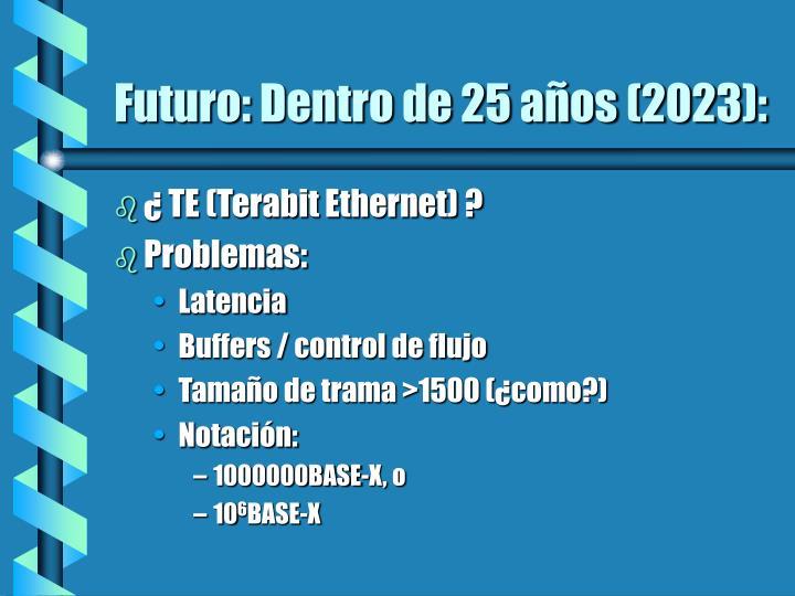 Futuro: Dentro de 25 años (2023):