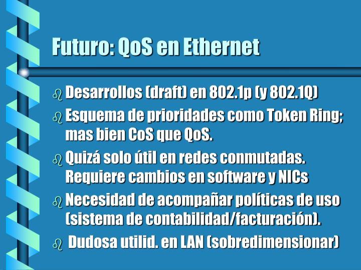 Futuro: QoS en Ethernet