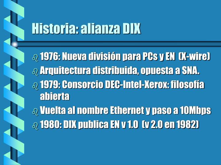 Historia: alianza DIX