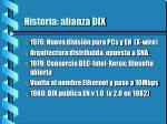historia alianza dix