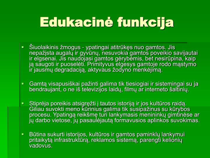 Edukacinė funkcija