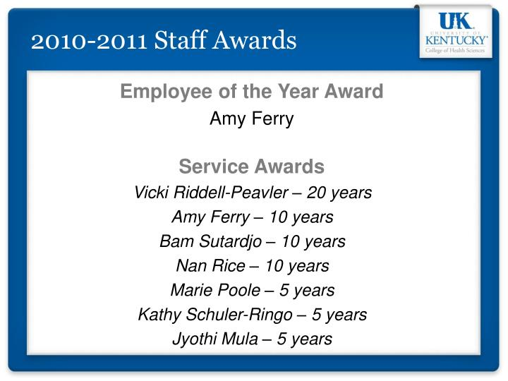 2010-2011 Staff Awards