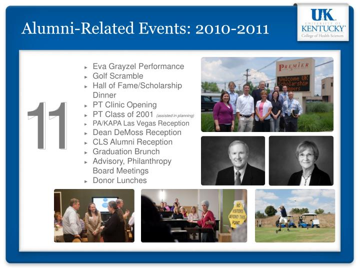 Alumni-Related Events: 2010-2011