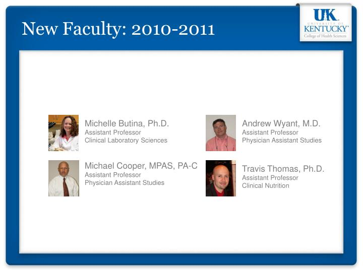 New Faculty: 2010-2011