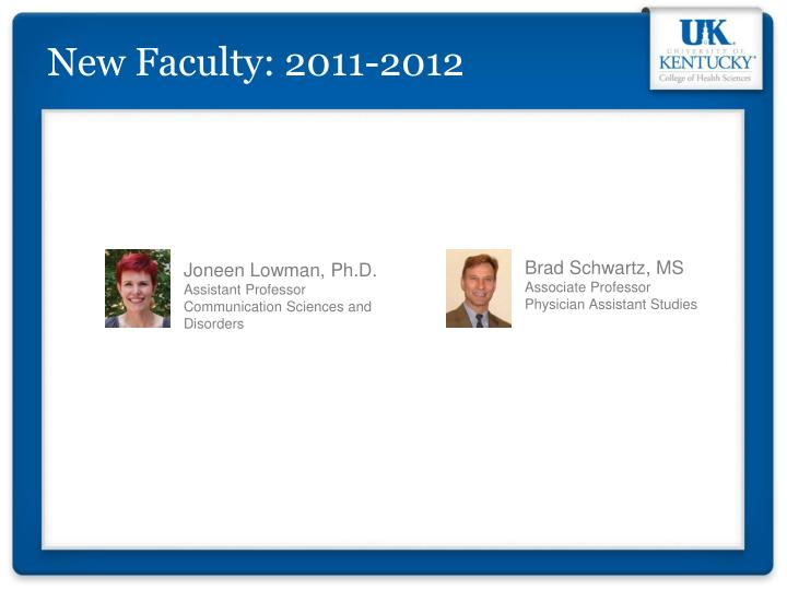New Faculty: 2011-2012