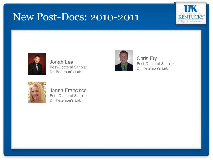 New Post-Docs: 2010-2011