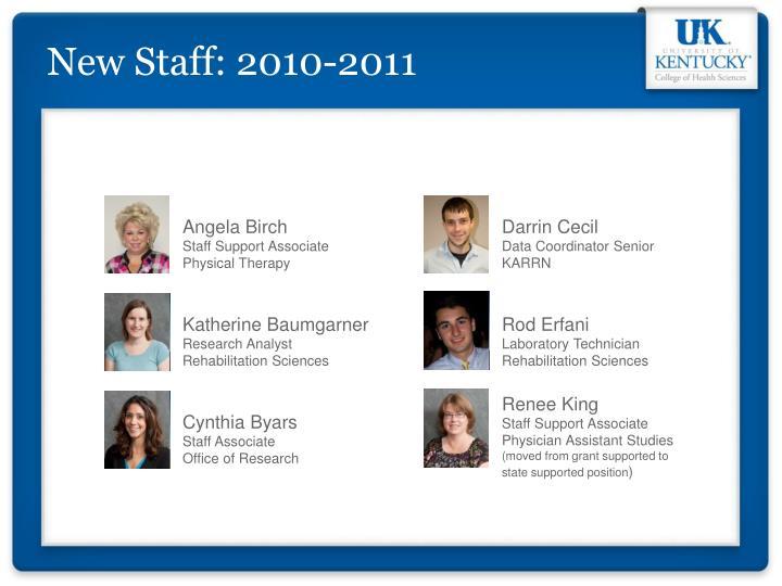 New Staff: 2010-2011