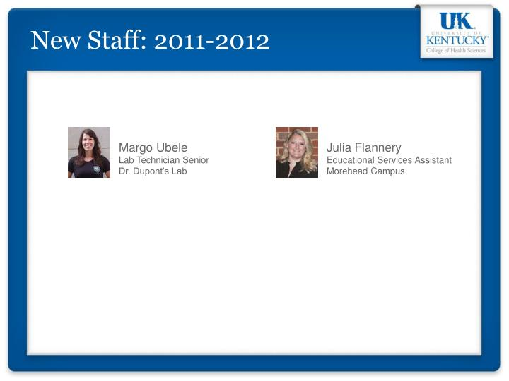 New Staff: 2011-2012
