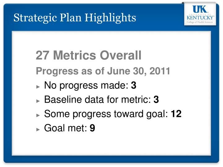 Strategic Plan Highlights