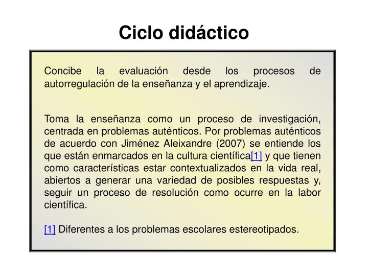 Ciclo didáctico