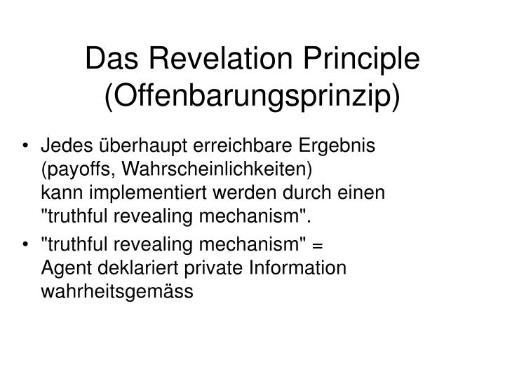 Das Revelation Principle