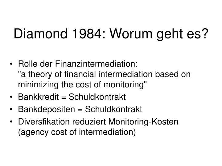 Diamond 1984: Worum geht es?