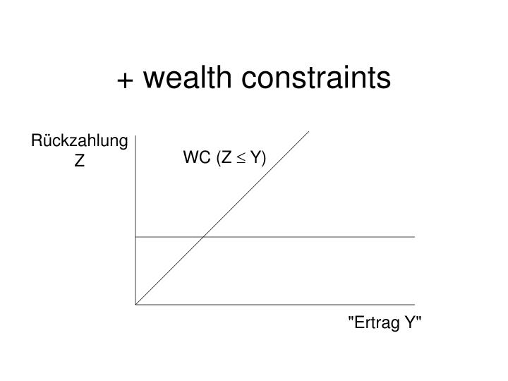 + wealth constraints