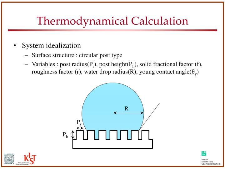 Thermodynamical Calculation