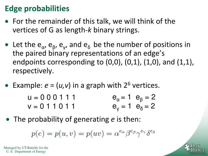 Edge probabilities