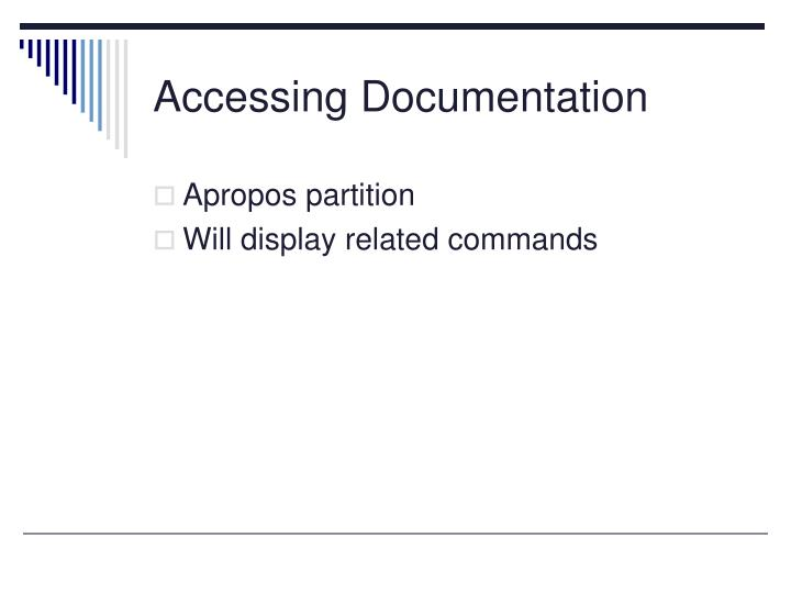Accessing Documentation