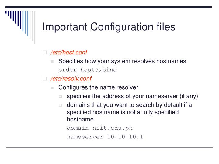 Important Configuration files