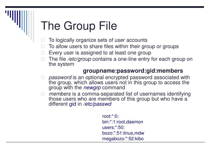 The Group File