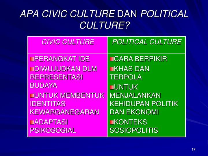 APA CIVIC CULTURE