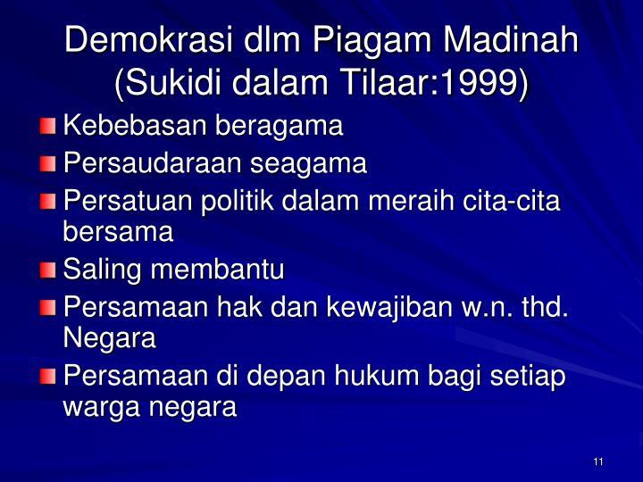 Demokrasi dlm Piagam Madinah