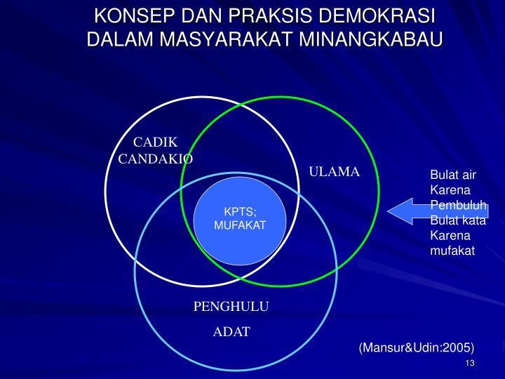 KONSEP DAN PRAKSIS DEMOKRASI