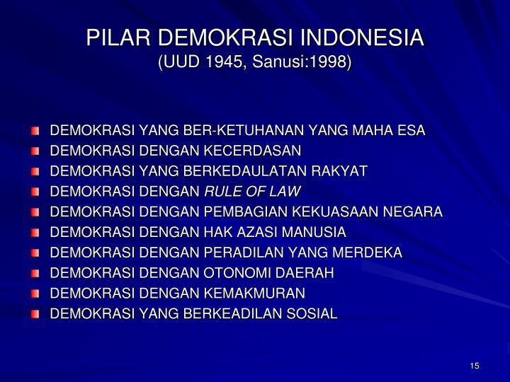 PILAR DEMOKRASI INDONESIA