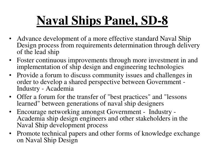 Naval Ships Panel, SD-8