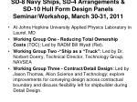 sd 8 navy ships sd 4 arrangements sd 10 hull form design panels seminar workshop march 30 31 2011