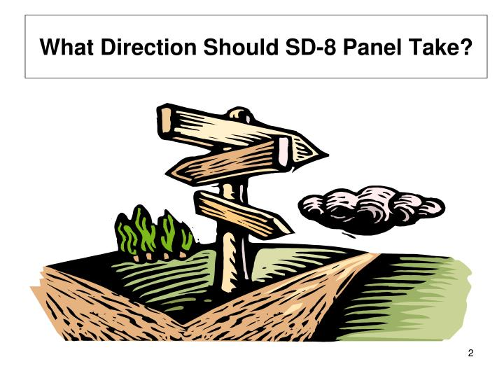 What Direction Should SD-8 Panel Take?