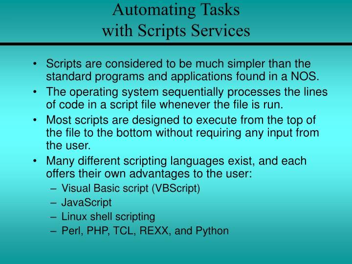 Automating Tasks