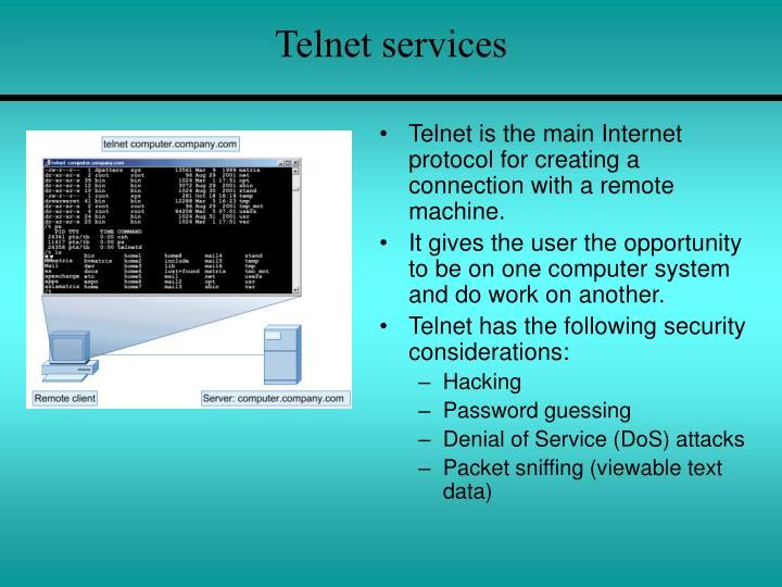 Telnet services