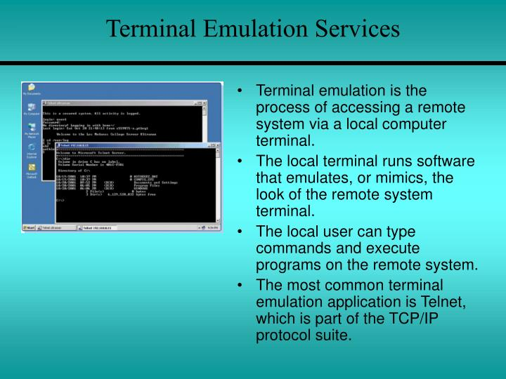Terminal Emulation Services