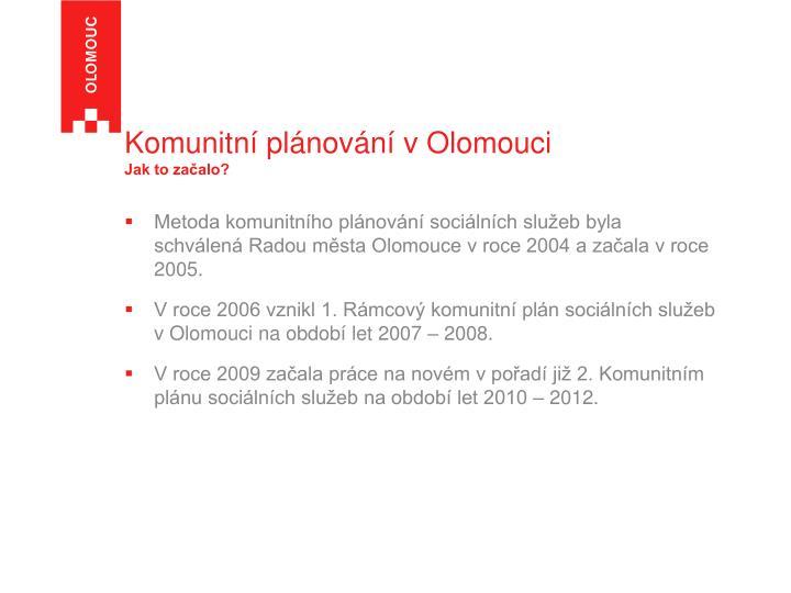Komunitní plánování v Olomouci
