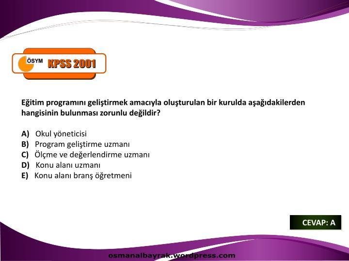 KPSS 2001