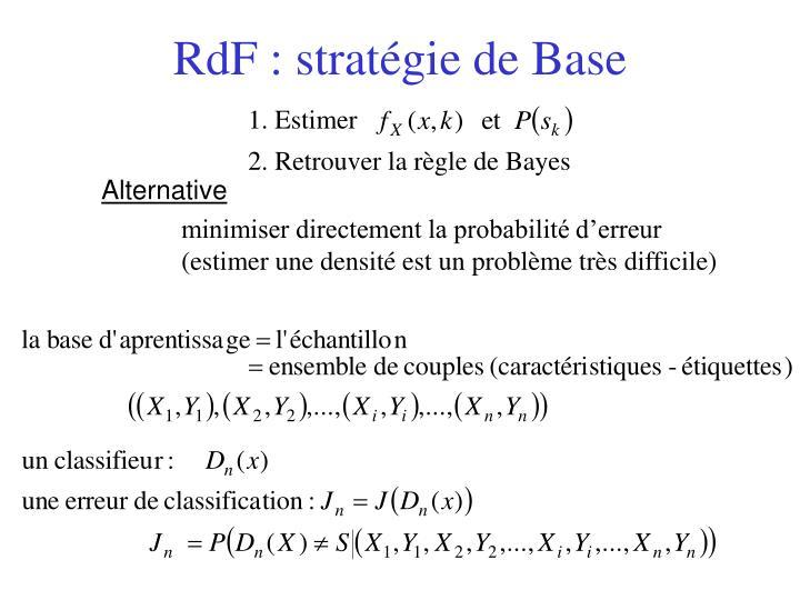 RdF : stratégie de Base