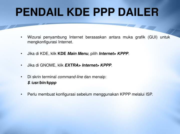 PENDAIL KDE PPP DAILER